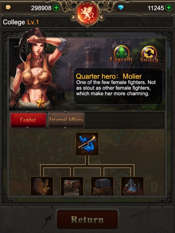 Ipad Screen Shot War of Heroes: Origin of Chaos 2