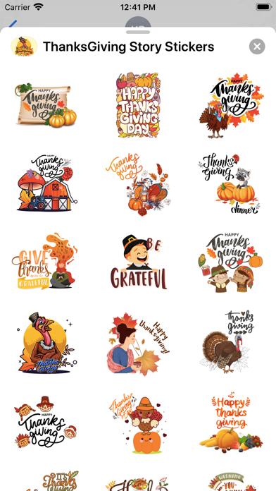 ThanksGiving Story Stickers screenshot 1