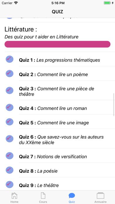 Cours de Français screenshot 5