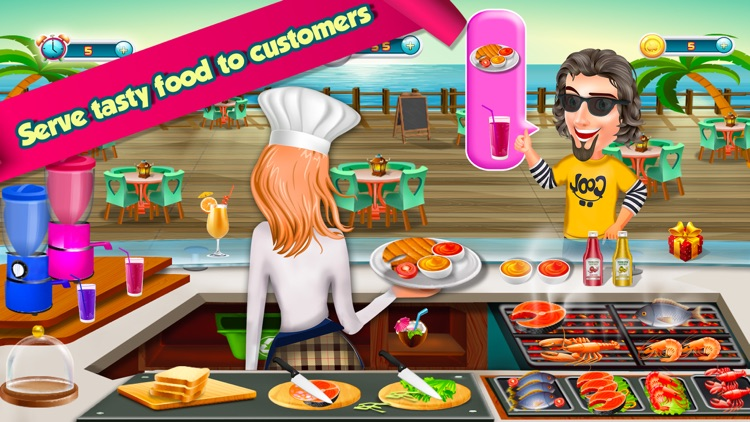 Seafood Crazy Cooking Game
