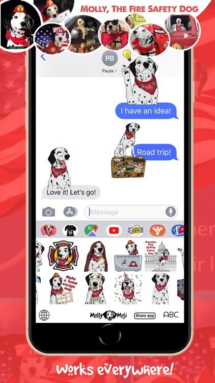 MollyMoji - Dalmatian stickers screenshot-3
