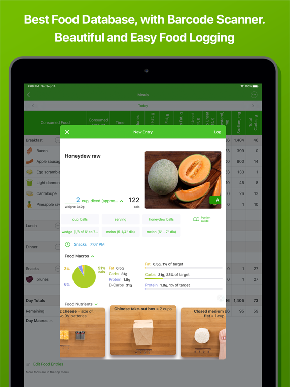 Calorie Counter and Food Diary by MyNetDiary - for Diet and Weight Loss screenshot