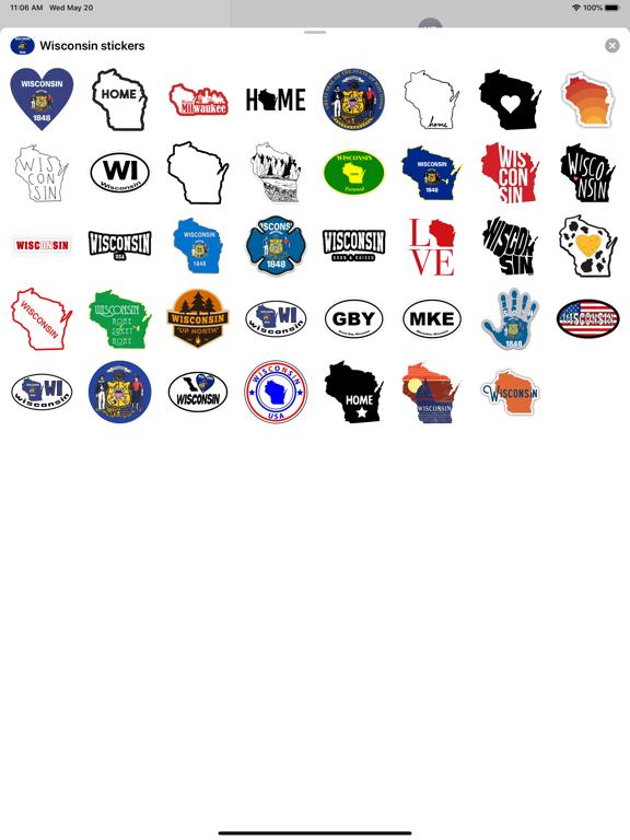 Wisconsin emoji - USA stickers screenshot 4