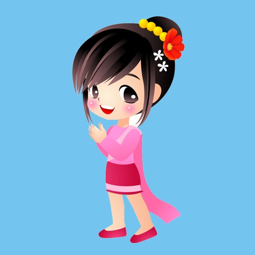 Pink Thai Girl Stickers