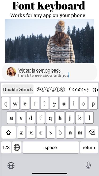 Font Keyboard - Get Cool Fonts