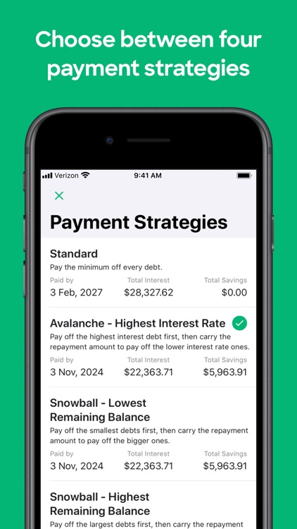 Debt Free - Snowball Avalanche screenshot-3