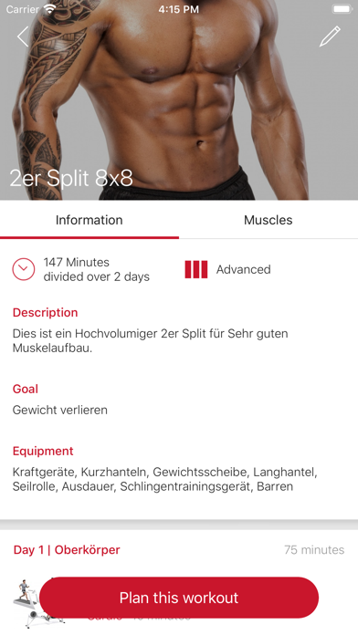 Pro-Fitness TrainingsappScreenshot von 3