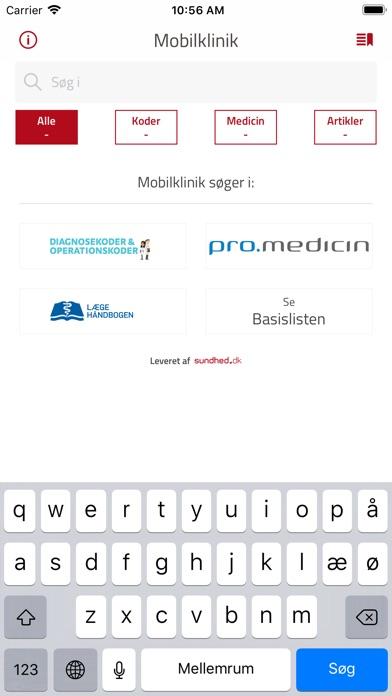 Screenshot for Mobilklinik in Denmark App Store