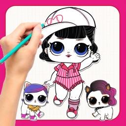 LOL Dolls - How To Draw