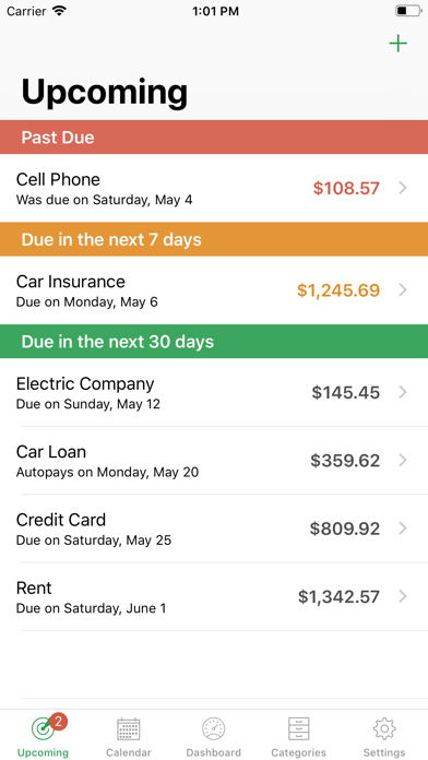 Screenshot for BillMinder® in Kazakhstan App Store