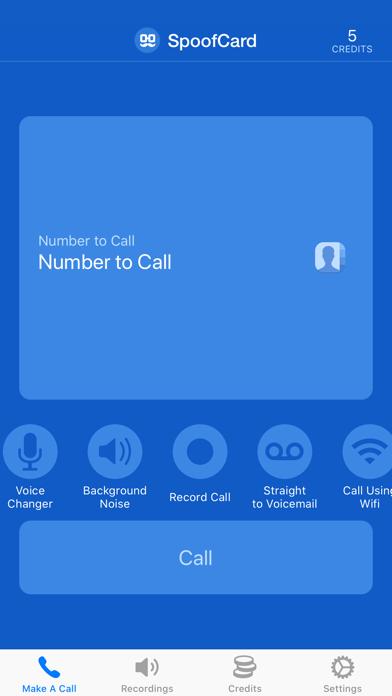 SpoofCard Screenshot