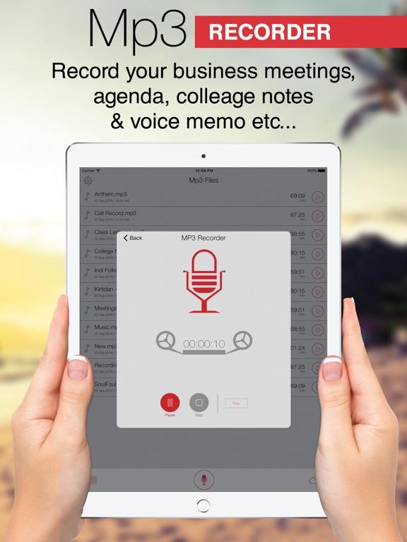 Screenshot #4 pour Mp3 Recorder : Voice Recorder