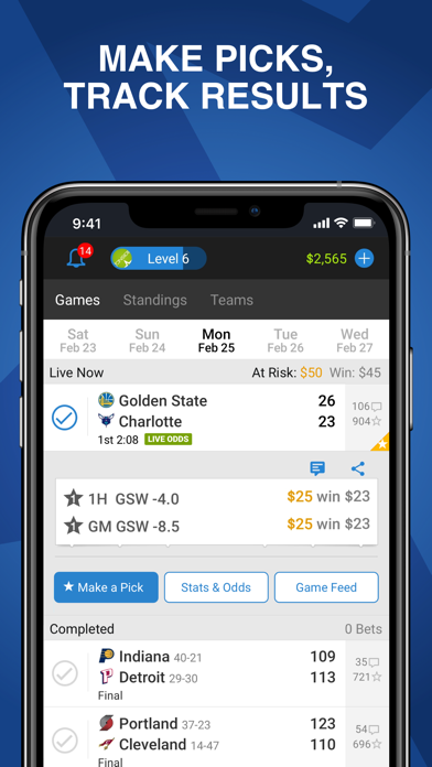 Onside Sports - Live Scores, Vegas Odds, Stats, Fantasy Betting and Picks screenshot