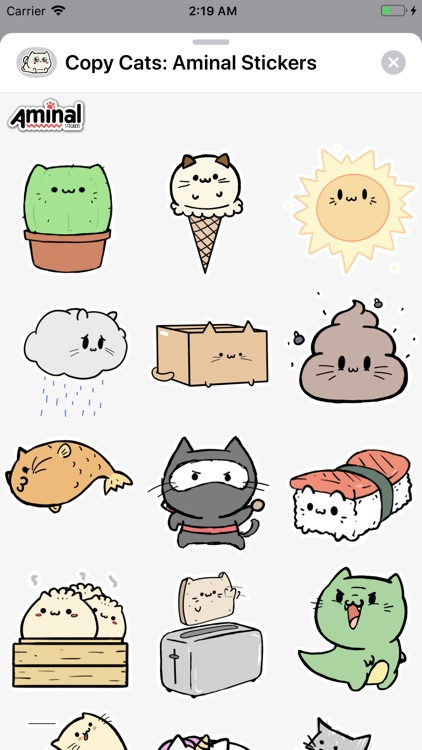 Copy Cats: Aminal Stickers screenshot-1