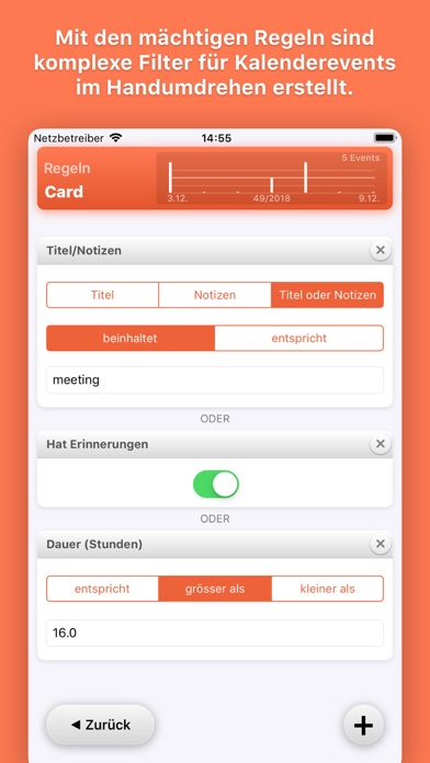 Timeview - Kalender StatistikScreenshot von 4