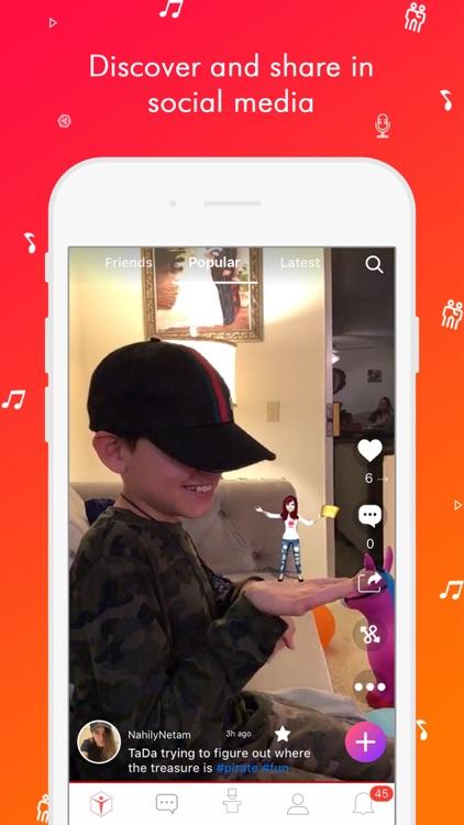 TaDa Time - 3D AR Messenger screenshot-0