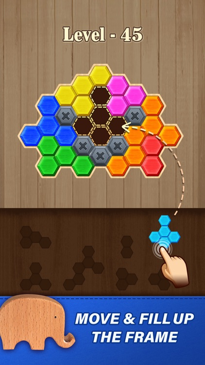 Block Hexa Puzzle: Wooden Game screenshot-0