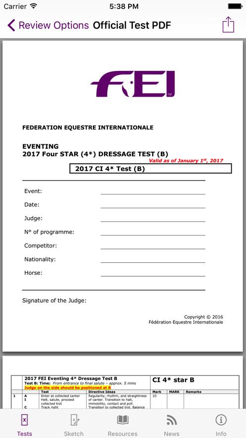FEI EquiTests 2 - Eventing App 截图