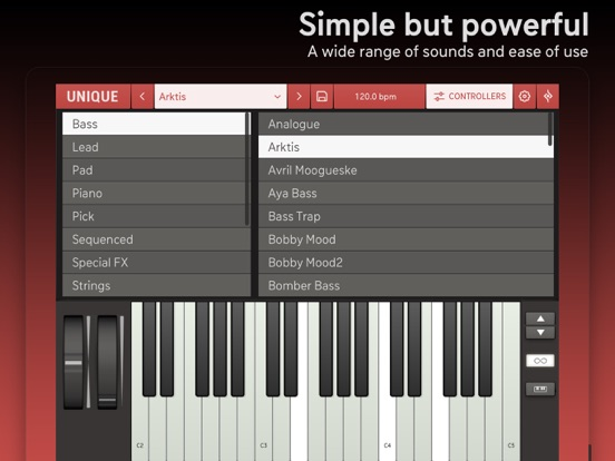 Unique for iPad - Analog Synth