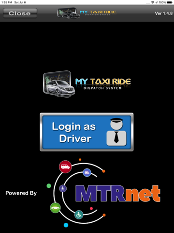 Screenshot of My Taxi Ride System