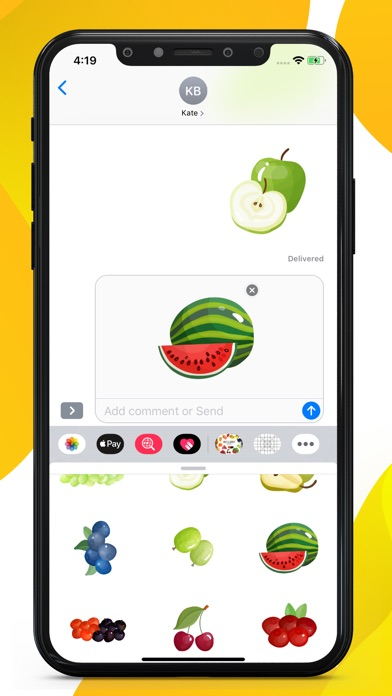 Fruit Delicious Stickers screenshot 2