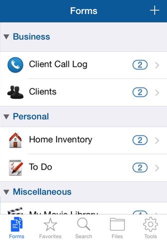 Screenshot of Tap Forms Organizer