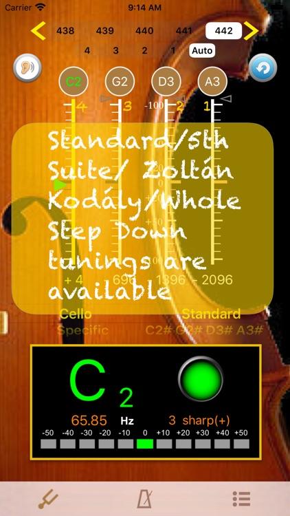 Cello Tuner - PRO screenshot-3