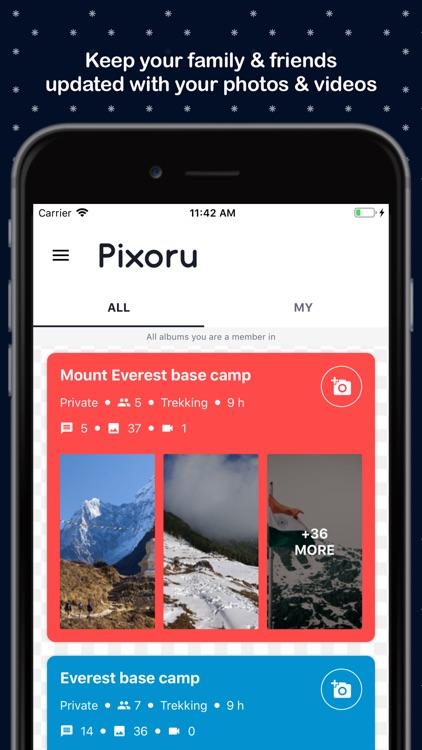 Pixoru - Friends Photo Sharing screenshot-4