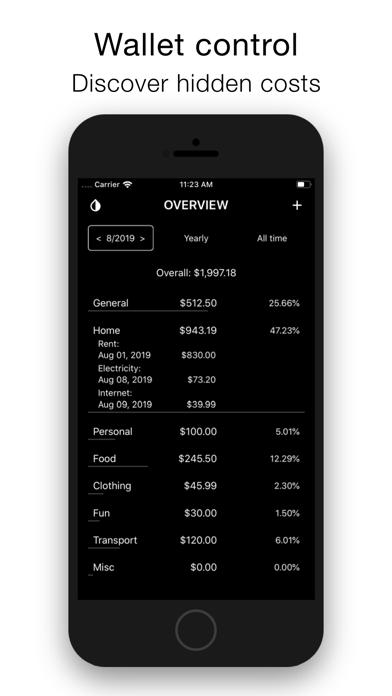 Screenshot of Minimalist Expense Tracker App