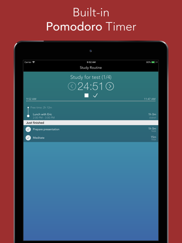 Routinemeister: Task Timer - náhled