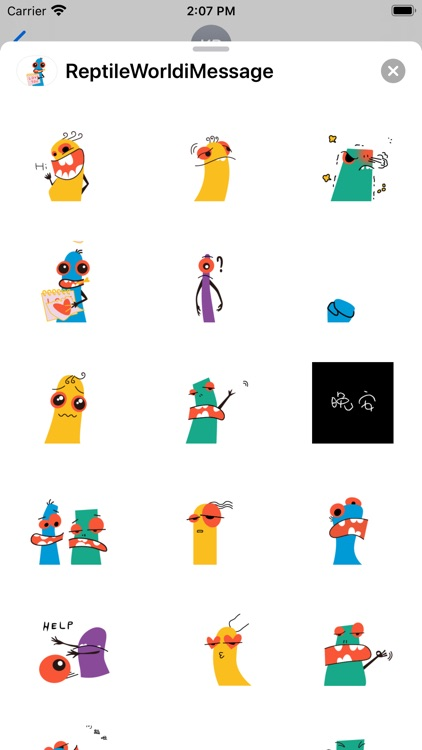 Reptile World Stickers screenshot-3