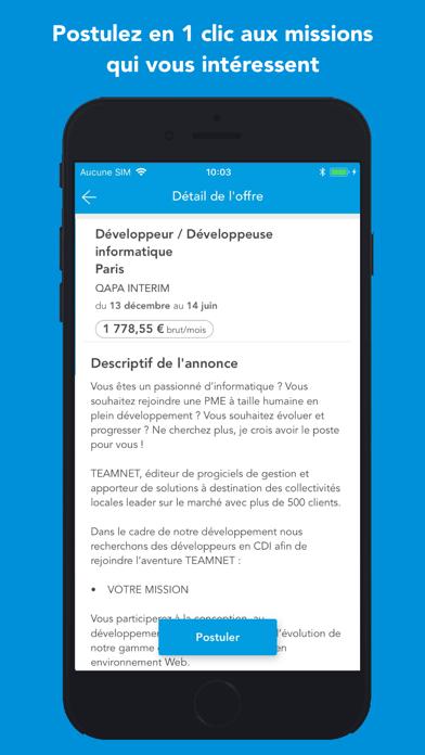 Screenshot #2 pour QAPA: Emploi intérim, CDI/CDD