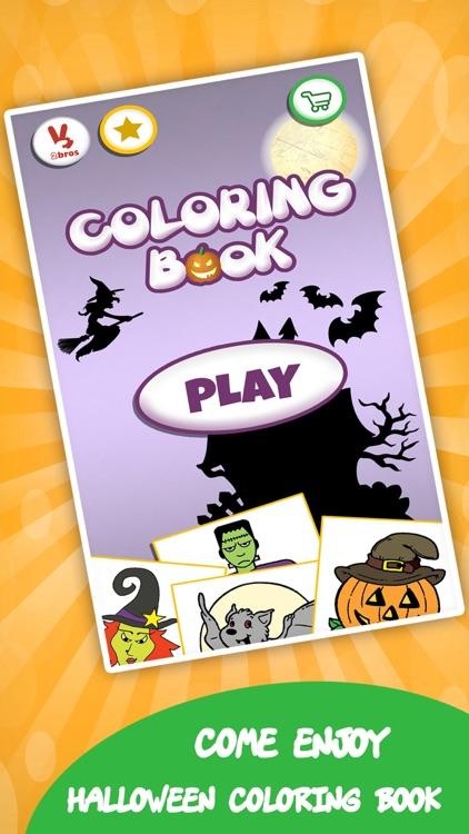 Coloring book : Draw Halloween screenshot-4
