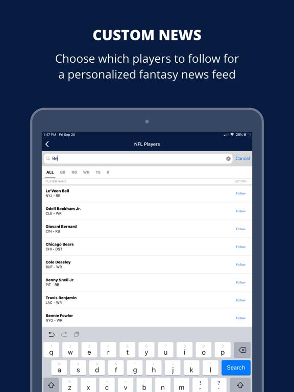FantasyPros Player News screenshot