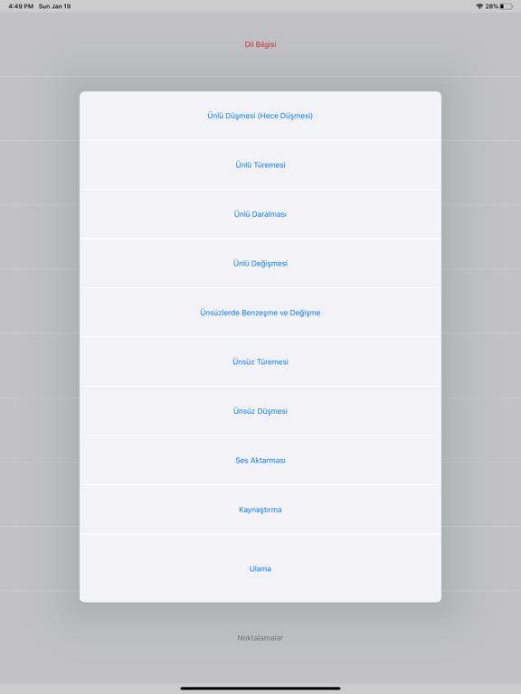 Dil Bilgisi screenshot 2