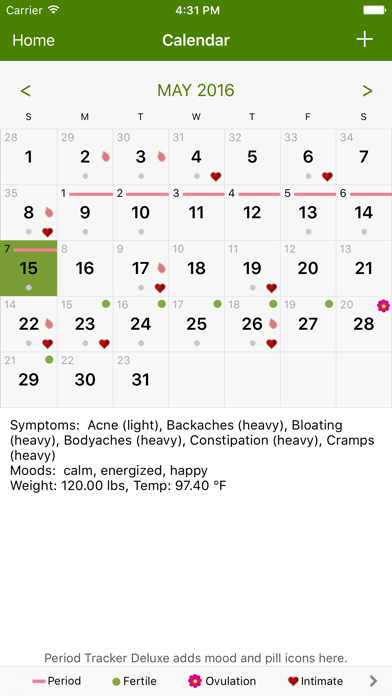 Period Tracker by GP Apps screenshot two