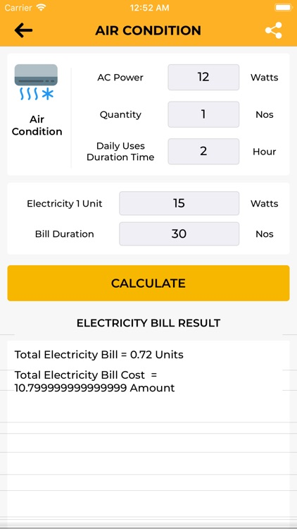 Electricity Pricing+ UnitsCalc screenshot-6