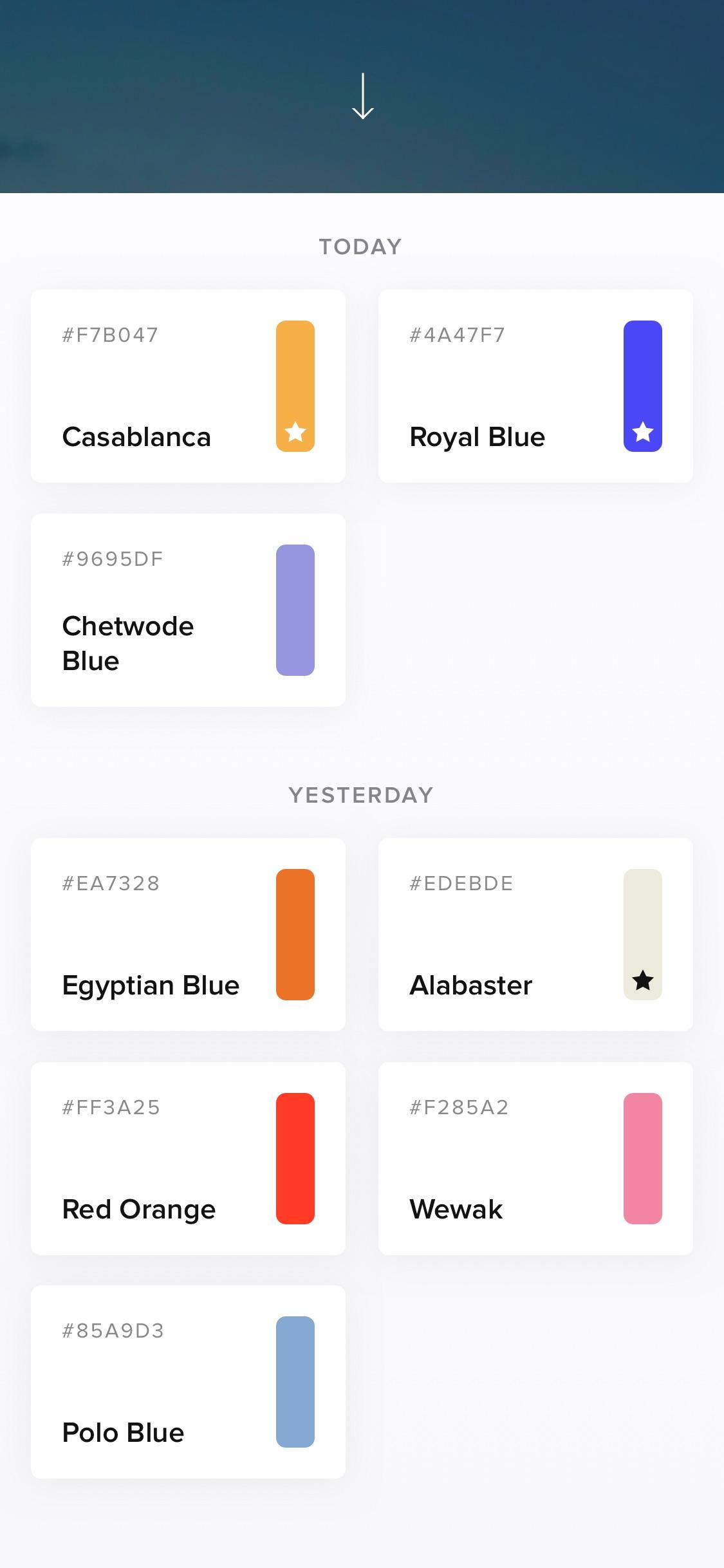 Screenshot do app Cone - Live Color Picker