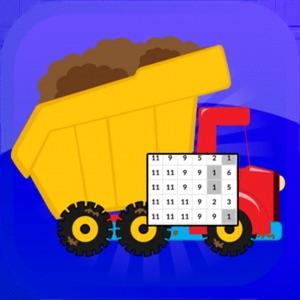 PixelArt Coloring Dump Trucks