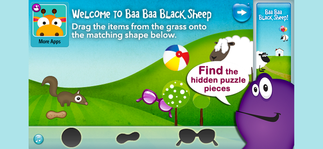 ‎Baa Baa Black Sheep - Song Screenshot