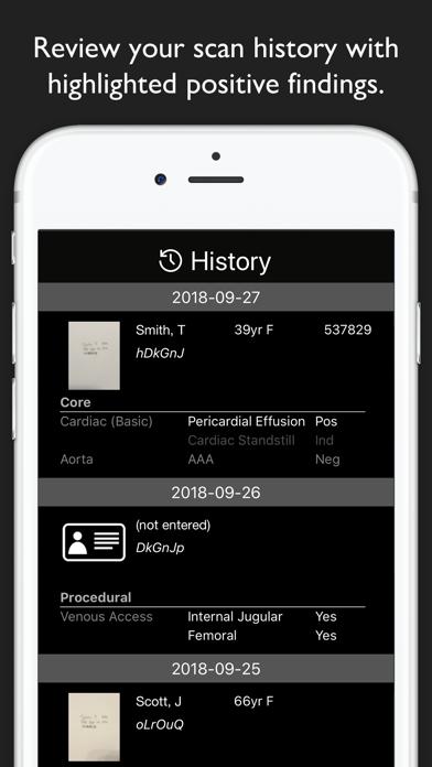 EchoLog - Ultrasound Logbook Screenshots