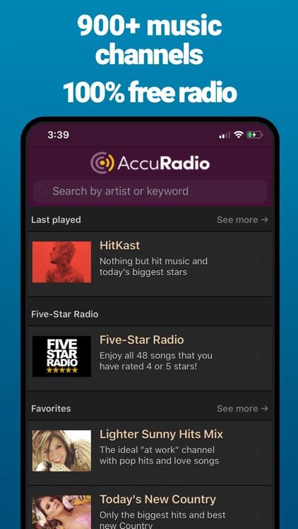 AccuRadio: Curated Music Radio screenshot-0