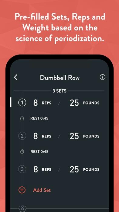 Fitbod Weight Lifting Workout Screenshot