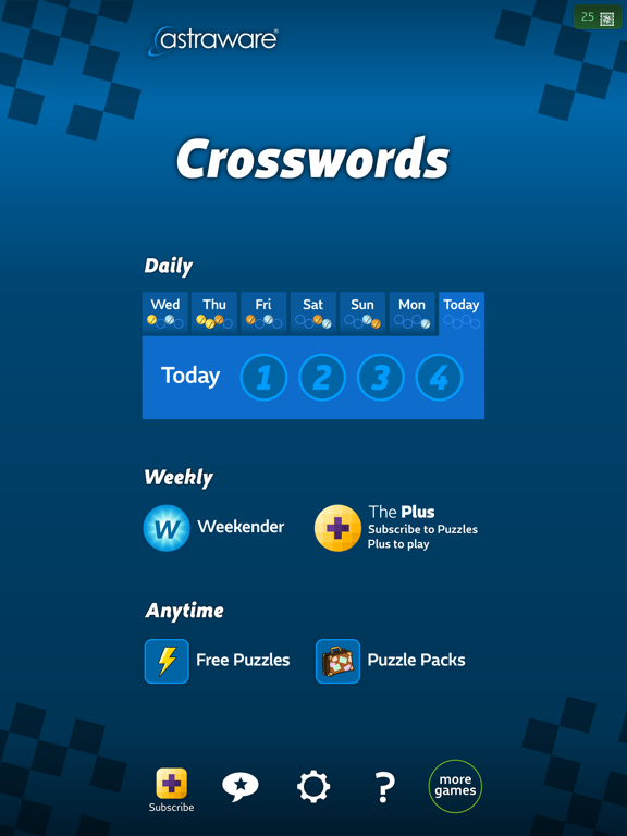 Astraware Crosswords screenshot