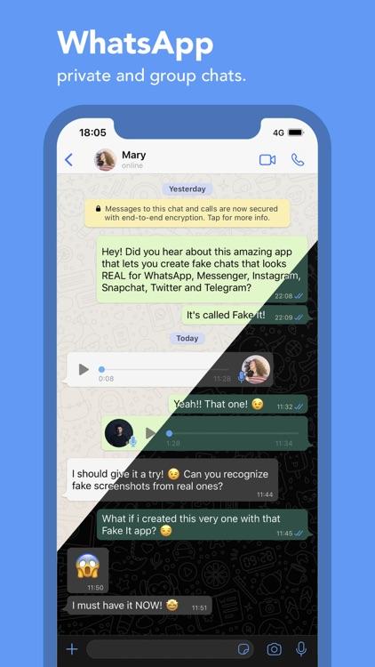 Fake It – The fake chat maker screenshot-4