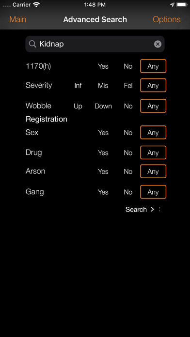 California Crime Finder-Phone Screenshot
