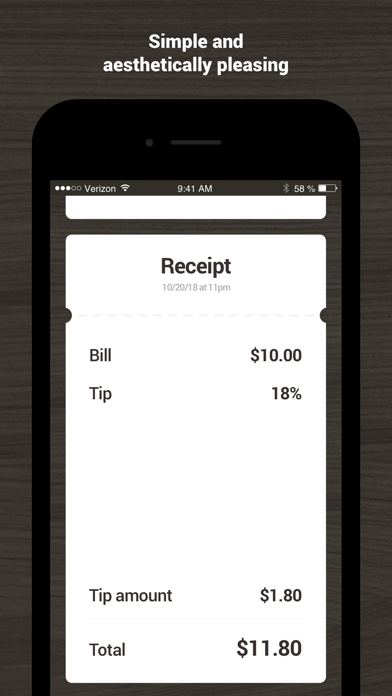 Tip18 - Tip Calculator screenshot two