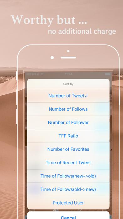 Follow Tool for Twitter screenshot