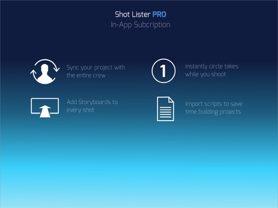 Shot Lister - Film set schedule tool for Directors screenshot