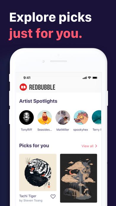 Redbubble - Shop original art screenshot